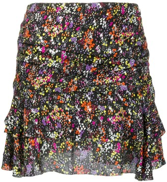 Derek Lam 10 Crosby floral flounce mini skirt