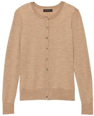 Banana Republic Washable Merino Wool Cropped Cardigan Sweater