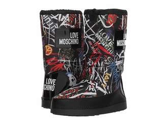 Love Moschino Grafitti Print Snow Boot
