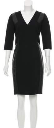 Emilio Pucci Leather-Trimmed Knit Dress Black Leather-Trimmed Knit Dress
