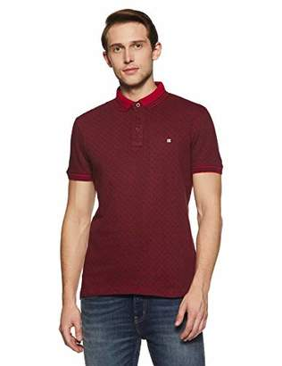 c61393f79db9 Something for Everyone Maroon Men's Polo Pique Jacquard Slim Fit Shirt Extra  Large