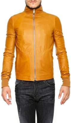 Rick Owens Intarsia Leather Jacket