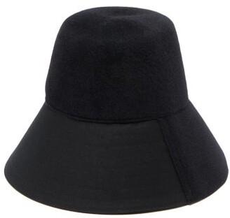 Valentino Felt Bucket Hat - Womens - Black