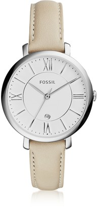 Fossil Jacqueline Stainless Steel Women's Watch w/Leather Band
