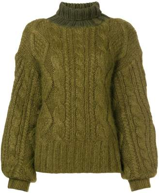 Aalto oversized cable knit sweater