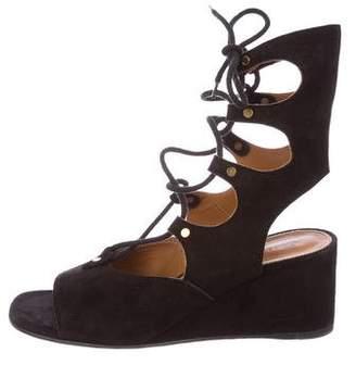 Chloé Gladiator Wedge Sandals