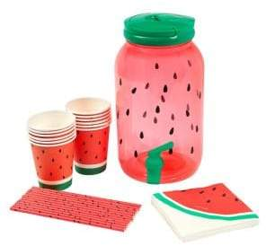 Sunnylife Watermelon Drink Dispenser Party Kit