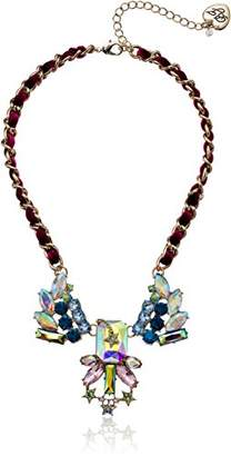 Betsey Johnson Star and Stone Cluster -Frontal Necklace