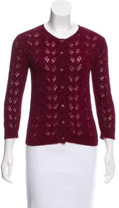 Tocca Metallic Knit Cardigan