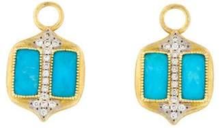 Jude Frances 18K Diamond-Accented Quartz Triplet Earring Enhancers