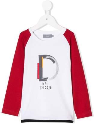 Christian Dior logo print long sleeve top