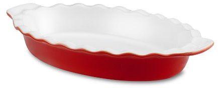 Emile Henry Ruffled Auberge Oval Baker, Red