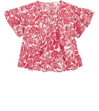 J.Crew crewcuts by Tropical Floral Print Pleated Top