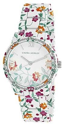 Laura Ashley Women's LA31018J Analog Display Japanese Quartz White Watch $53.68 thestylecure.com