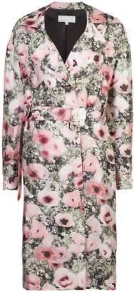 Fleur Du Mal poppy print belted coat