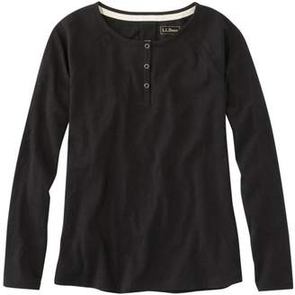 L.L. Bean L.L.Bean Women's Organic Cotton Tee, Long-Sleeve Henley