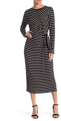Lush Hacci Striped Brushed Dress