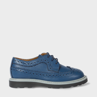 Boys' 7+ Years Navy Leather 'Grand' Brogues $100 thestylecure.com