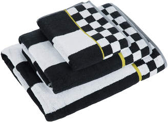 Mackenzie Childs MacKenzie-Childs - Courtly Stripe Towel - Black/White - Bath Sheet