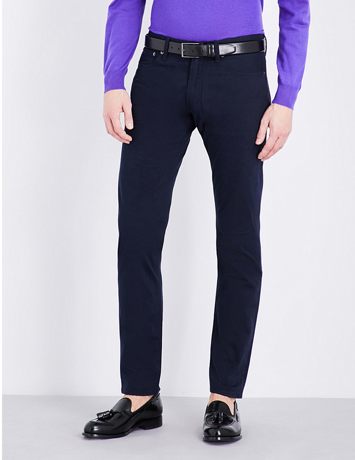 Ralph Lauren Purple LabelRALPH LAUREN PURPLE LABEL Stretch slim-fit tapered jeans