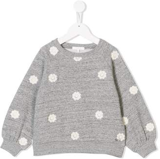 Chloé floral embroidered sweatshirt
