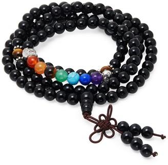 Jean Claude Semi-Precious Rosary Mala Bead Bracelet