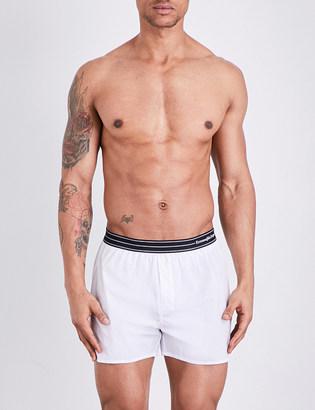 Ermenegildo Zegna Contrast band cotton boxer shorts $43.50 thestylecure.com