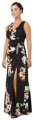 Ariella London - Multicoloured Print 'Selina' Evening Dress