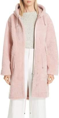 Parker ANNE VEST Genuine Shearling Hooded Coat