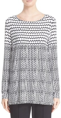 Women's St. John Collection Zigzag Print Tee $495 thestylecure.com