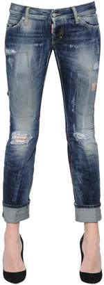 DSQUARED2 Sexy Washed & Patched Denim Jeans