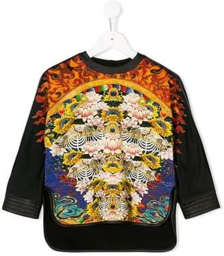 Roberto Cavalli Junior water lily print sweatshirt