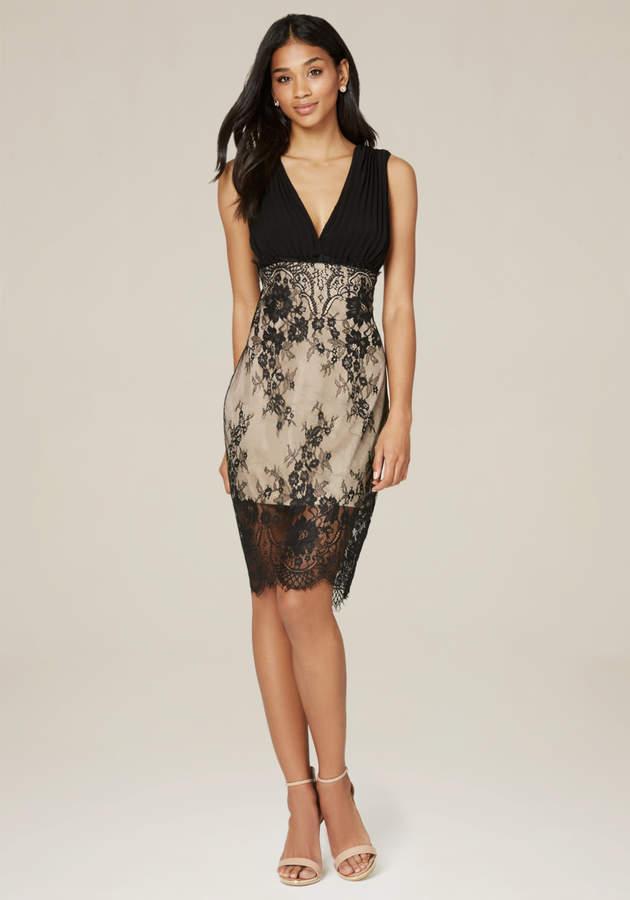 Georgette & Lace Dress