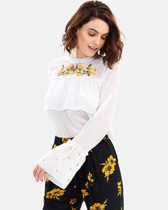Miss Selfridge Embroidered High-Neck Top