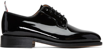 Thom Browne Black Patent Leather Derbys $1,050 thestylecure.com