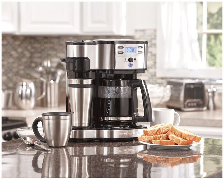 Hamilton Beach 49980Z Two Way Brewer Single Serve & 12 cup Coffee Maker