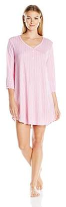 Karen Neuburger Women's 3/4 Sleeve Nightshirt Pajama PJ