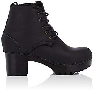 NO. 6 Women's Shearling-Lined Leather Ankle Boots - Black