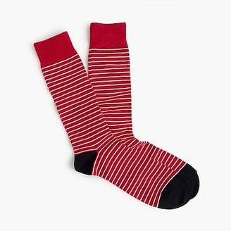 J.Crew Tipped microstriped socks