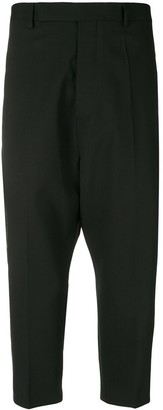 Rick Owens taped drop crotch tailored trousers