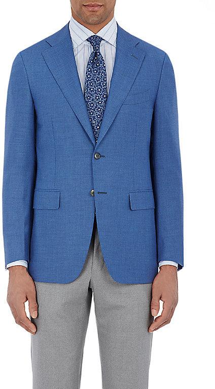 CanaliCanali Men's Capri Two-Button Jacket-Blue