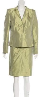 Akris Silk Knee-Length Skirt Suit