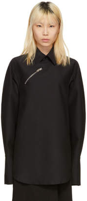 Yang Li Black Oversized Zip Shirt