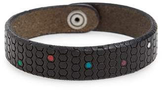 Orciani Pois Leather Bracelet