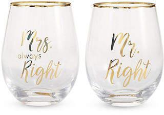 Mikasa Stemless Wine Glass Set