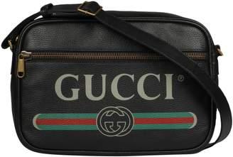 Gucci Printed Logo Shoulder Bag
