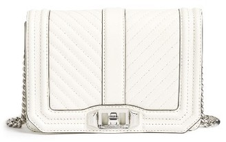 Rebecca Minkoff Small Love Chevron Quilted Leather Crossbody Bag - White $195 thestylecure.com