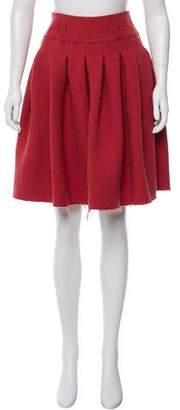 Bottega Veneta Wool A-Line Skirt