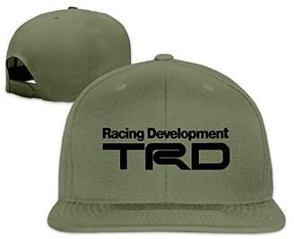 DynamicRights Racing Development TRD Peaked Snapback Baseball Cap Flat Brim  Hat 185ccef1ae7f