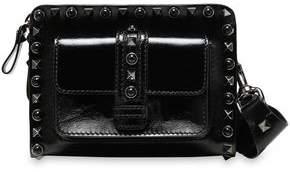 Valentino Studded Patent-leather Shoulder Bag